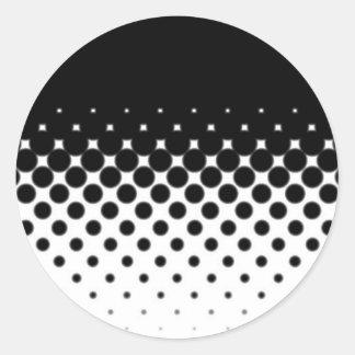 Half Tone Classic Round Sticker