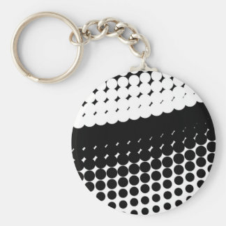 Half Tone Curve Basic Round Button Key Ring