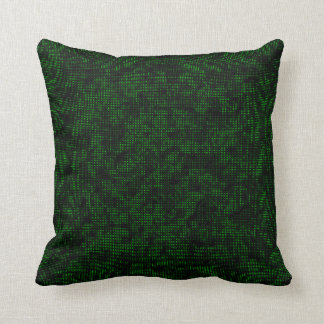 Half-Tone Forest Green Cushion