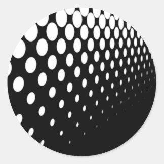 Half Tone Perspective Classic Round Sticker