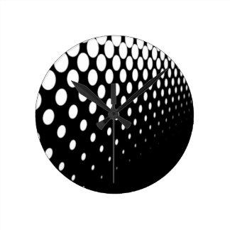 Half Tone Perspective Round Clock