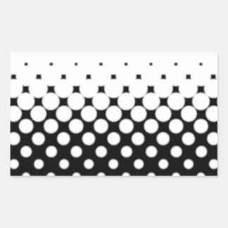 Half Tone Rectangular Sticker