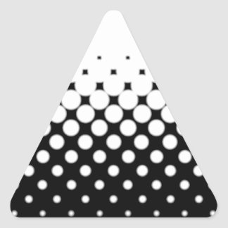 Half Tone Triangle Sticker