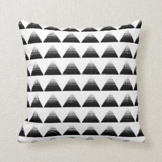 Half-Tone Triangles Cushion
