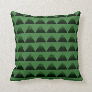 Half-Tone Triangles Green Cushion