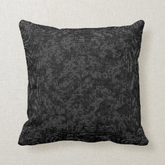 Half-Tone Vegetation Black and White Cushion
