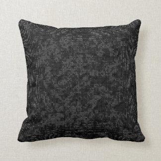 Half-Tone Vegetation Black and White Throw Pillow
