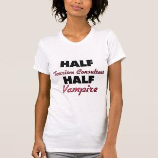 Half Tourism Consultant Half Vampire T-shirts