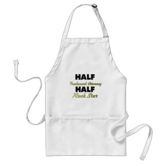 Half Trademark Attorney Half Rock Star Apron