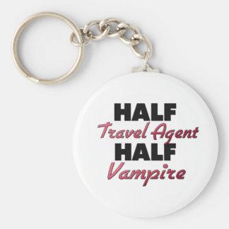 Half Travel Agent Half Vampire Keychains