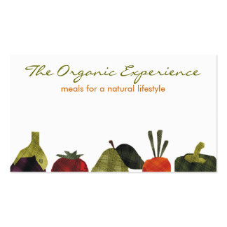 half veggies fruits cooking catering business c... Double-Sided standard business cards (Pack of 100)