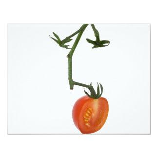 Half vine tomato personalized invitations