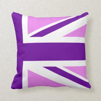 Half Violet Purple Union Jack Cushion