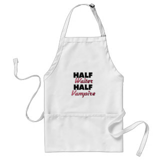 Half Waiter Half Vampire Adult Apron