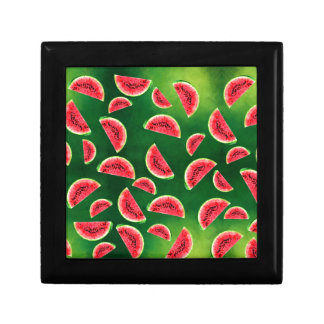 half watermelon illustration in triangle pattern gift box