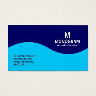 Half Wave Monogram - Sky Blue and Navy Blue 000066