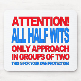 Half Wits Mouse Pad
