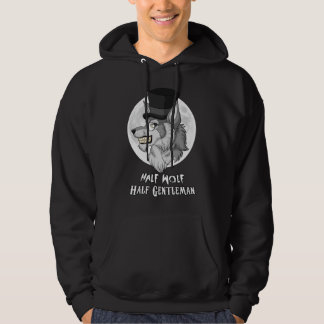Half-Wolf Half-Gentleman Men's Hooded Sweatshirt