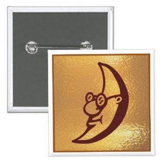 HalfMOON MoonSmile Moon - Medal Icon Gold Base Pins