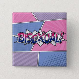 Halftone Bisexual Typography 15 Cm Square Badge