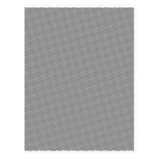 Halftone Black Grid Postcard
