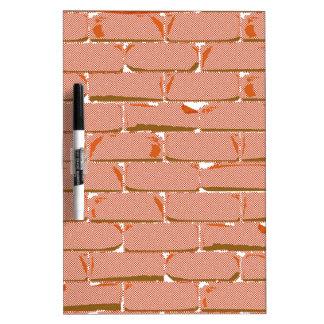 Halftone Brick Wall Dry Erase Whiteboards