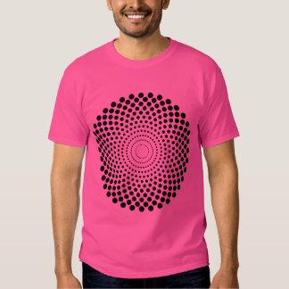 Halftone Circle 02 - Black T-shirt