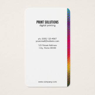 Halftone Colors Business Card