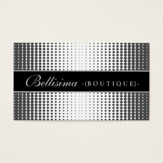 Halftone Dots Ebony Business Card
