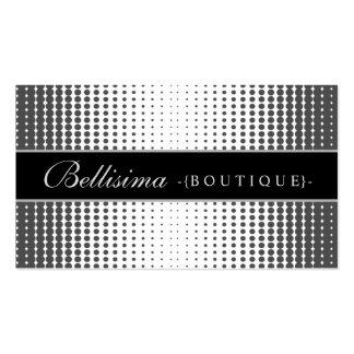 Halftone Dots Ebony Business Card
