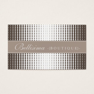 Halftone Dots Mocha Business Card
