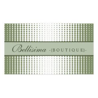 Halftone Dots Sage Green Business Card