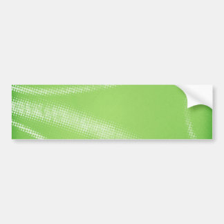 HALFTONE DOTTED LIGHT LIME GREEN WHITE DIGITAL SWI BUMPER STICKER