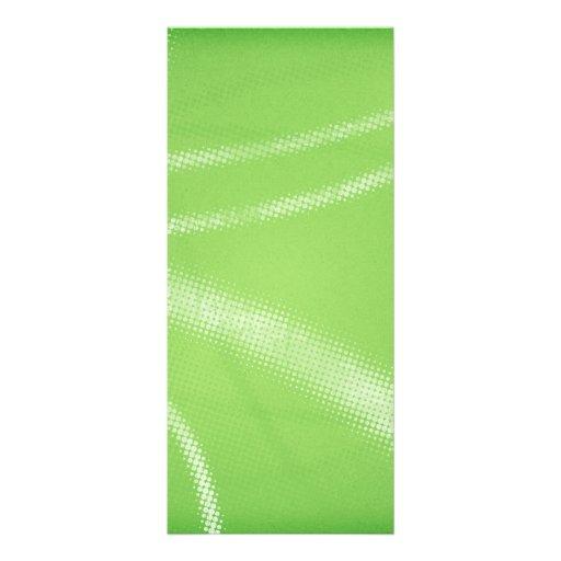 HALFTONE DOTTED LIGHT LIME GREEN WHITE DIGITAL SWI CUSTOM RACK CARD