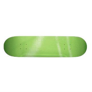HALFTONE DOTTED LIGHT LIME GREEN WHITE DIGITAL SWI SKATEBOARD