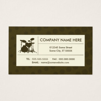 halftone drums business card