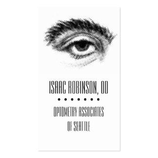 Halftone Eye Optometrist Business Card