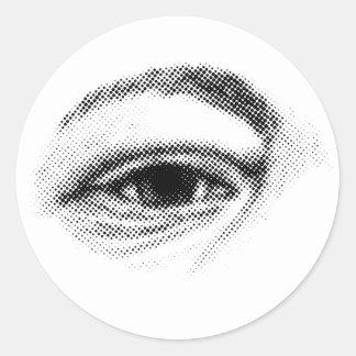 Halftone Eye Round Sticker