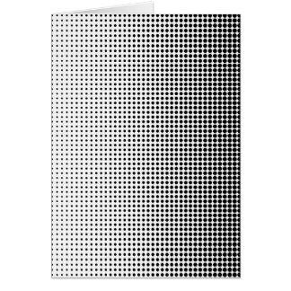 Halftone Faded Grid Card