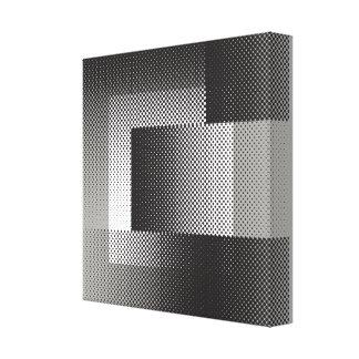 Halftone geometry canvas print