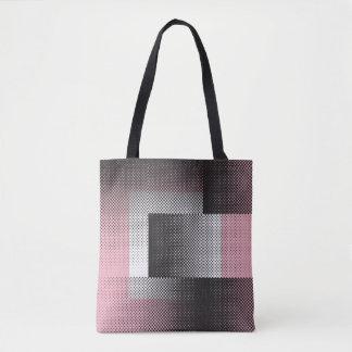 Halftone geometry tote bag