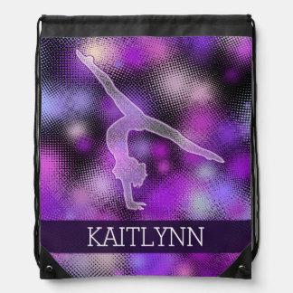 Halftone Gymnast in Purple with Monogram Rucksacks