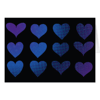 Halftone Hearts - Purple Card