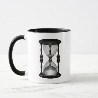 Halftone Hourglass Sand Timer Mug