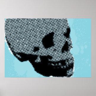 Halftone Skull Print
