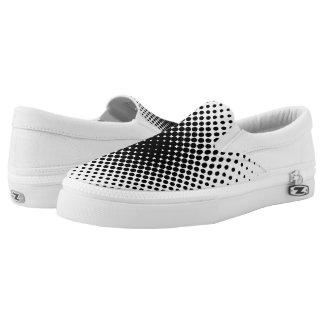 halftone slip on shoes