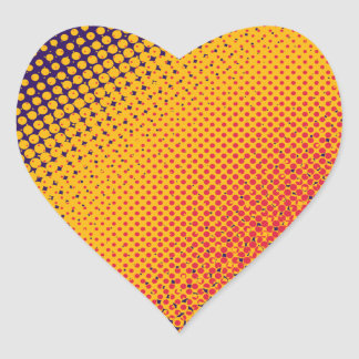 Halftone Sunset Heart Sticker
