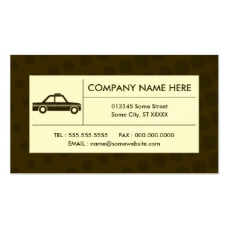 halftone taxi cab pack of standard business cards