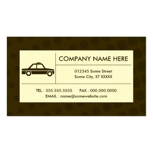 halftone taxi cab business card templates