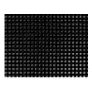 Halftone White Grid Postcard